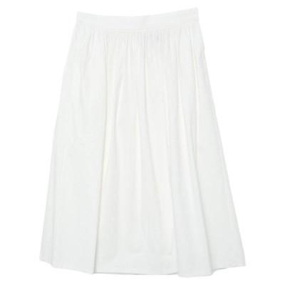 THE M.. 七分丈スカート  レディースファッション  ボトムス  スカート  ロング、マキシ丈スカート ホワイト