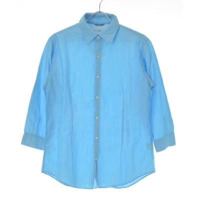 SHIPS / シップス コットンリネン 七分袖シャツ