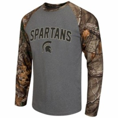 Colosseum コロセウム スポーツ用品  Colosseum Michigan State Spartans Heathered Gray/Realtree Camo Break Action Long S