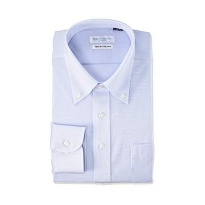 フレックスジャパン ハイブリッドセンサー 形態安定 吸水速乾 ストレッチ 汗消臭 高通気性 長袖 ニット ワイシャツ DWHS14 メンズ