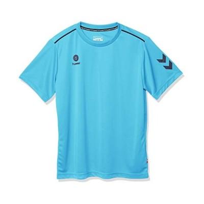 ヒュンメル 半袖シャツ ワンポイント メンズ ライトブルー 67 Oサイズ