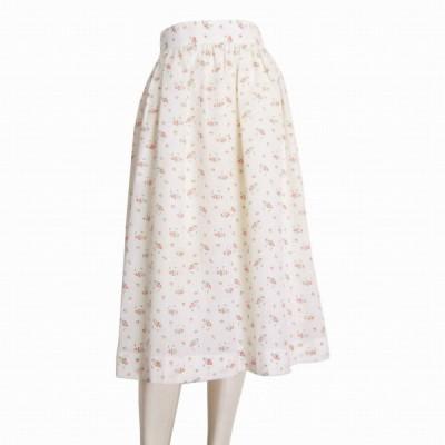 新品/ヴィヴィッド VIVID BOUTIQUE 小花柄フレアスカート フランス製素材 表記11号(L相当) 白/ホワイト 綿混 春夏向 ボトムス レディース