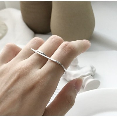 リング 指輪 レディース アクセサリー シルバー925 二本指 ツーフィンガー おしゃれ シンプル かっこいい かわいい ギフト プレゼント 個性的