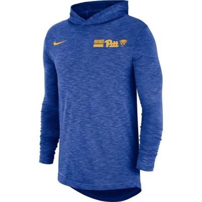 ナイキ Nike メンズ パーカー ドライフィット トップス Pitt Panthers Blue Dri-FIT Slub Long Sleeve Hooded T-Shirt