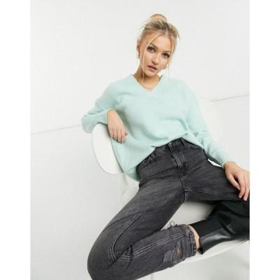 アーバン ブリス レディース ニット&セーター アウター Urban Bliss v neck knitted sweater in mint Mint