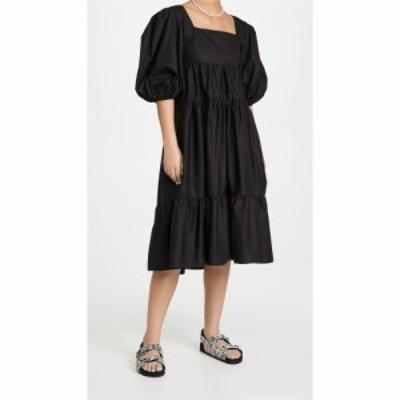 ソキエ コレクティブ Sokie Collective レディース ワンピース ミドル丈 ワンピース・ドレス Pouf Sleeve Midi Dress Black