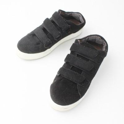 MOHI モヒ フェルト ベルクロ スニーカー 37/ブラック シューズ 靴  2400011206497