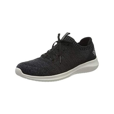 Skechers Women's Sneakers Trainers, Black Black Knit Mesh White Trim BKW, 1