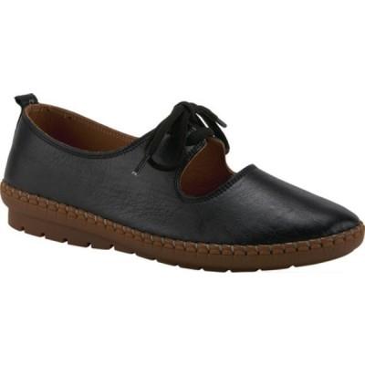 スプリングステップ サンダル シューズ レディース Kiasy Mary Jane (Women's) Black Leather