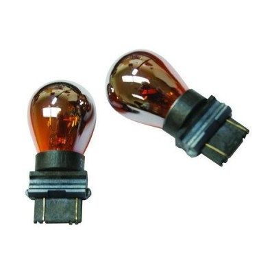 IPCW CWB-3157CA Chrome/Amber Waffle Mount 3157 Bulb - Pair