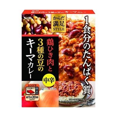 エスビー食品 からだ満足STYLE 鶏ひき肉と3種の豆のキーマカレー 中辛 180g