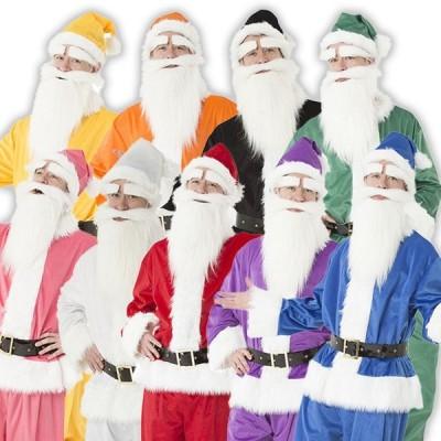 クリスマス コスプレ サンタ GOGOサンタさん 9色 メンズ フルセット 衣装 男性用 サンタクロース レッド/ブラック/ホワイト/ブルー/ピンク/イエロー/オレンジ