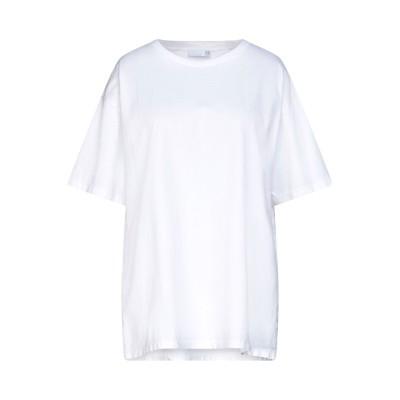 DOUUOD T シャツ ホワイト L コットン 100% / ポリウレタン T シャツ