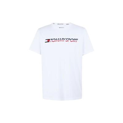 TOMMY SPORT T シャツ ホワイト L コットン 61% / ポリエステル 39% T シャツ