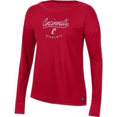 アンダーアーマー Under Armour レディース 長袖Tシャツ トップス Cincinnati Bearcats Red Performance Cotton Long Sleeve T-Shirt