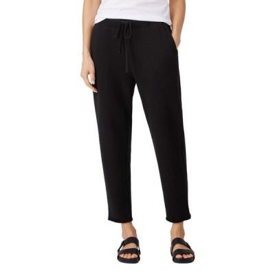 エイリーンフィッシャー レディース カジュアルパンツ ボトムス Organic Cotton French Terry Ankle Track Pants