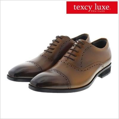 レースアップシューズ texcy luxe アシックス asics 革靴 内羽根 ビジネスシューズ メンズ 日本製 革靴 走れる 紳士用 レザー 革 消臭 防臭 軽量 ブラック