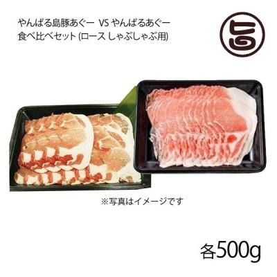ギフト やんばる島豚あぐー 黒豚 VS やんばるあぐー 白豚 食べ比べセット 各500g フレッシュミートがなは 沖縄 アグー 条件付き送料無料