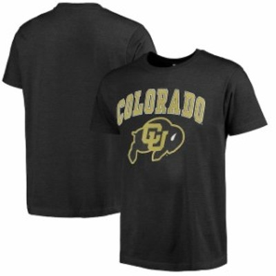 New Agenda ニュー アジェンダ スポーツ用品  Colorado Buffaloes Heathered Black Big Arch N Logo Ring Spun T-Shirt