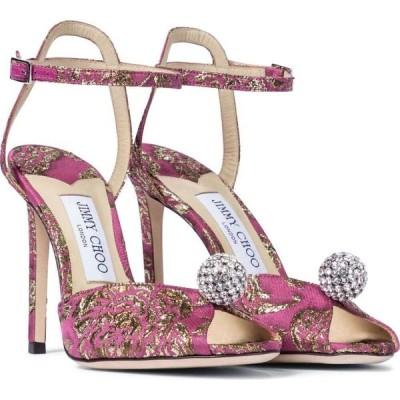 ジミー チュウ Jimmy Choo レディース サンダル・ミュール シューズ・靴 Sacora 100 brocade sandals Bubble/Gold