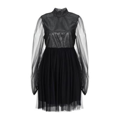 WANDERING ミニワンピース&ドレス ブラック 38 ナイロン 100% / ポリエステル / ポリウレタン ミニワンピース&ドレス