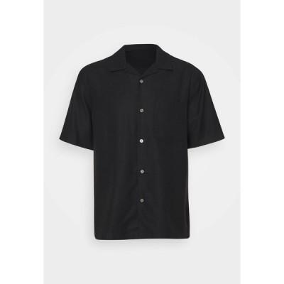 ウィークデイ シャツ メンズ トップス CHILL SHORT SLEEVE - Shirt - black