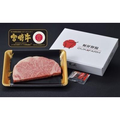 都城産宮崎牛【赤身霜降り】ロースステーキ1枚