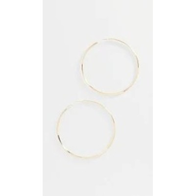 LANA JEWELRY レディースアクセサリー LANA JEWELRY Large Hollow Hoops Yellow Gold