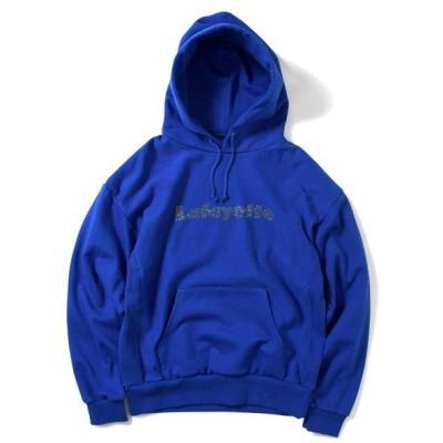 ラファイエット パーカー メンズ LAFAYETTE Rhinestone Logo US Cotton Hooded Sweatshirt ロイヤル