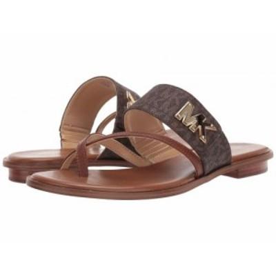 MICHAEL Michael Kors マイケルコース レディース 女性用 シューズ 靴 サンダル Sidney Flat Sandal Brown/Luggage【送料無料】