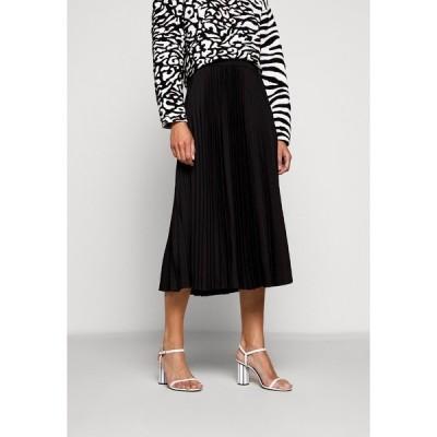 プロエンザ スクーラー ホワイト レーベル スカート レディース ボトムス PRINTED PLEATED LONG SKIRT - A-line skirt - black