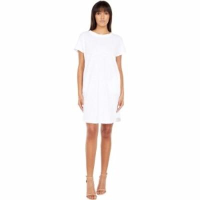 モドオードック Mod-o-doc レディース ワンピース ワンピース・ドレス Slub Jersey Twist Neckband Tee Dress White