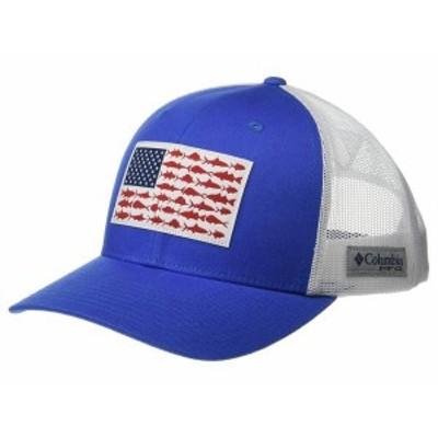 コロンビア メンズ 帽子 アクセサリー PFG Mesh Snapback Fish Flag Ball Cap Vivid Blue/White