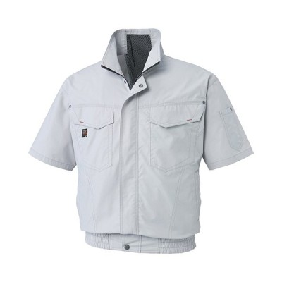 ◆サンエスユニフォーム事業部 SUN-S 電動ファン対応ウェア 空調風神服 半袖ブルゾン KU91450シルバーL