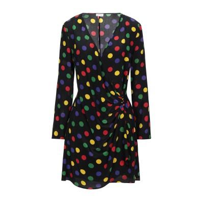 RIXO ミニワンピース&ドレス ブラック XS シルク 100% ミニワンピース&ドレス