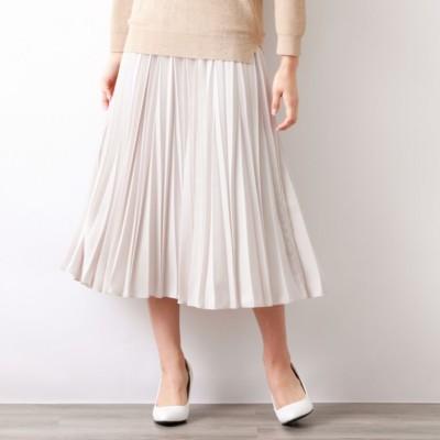 パウダーストレッチクレーププリーツスカート