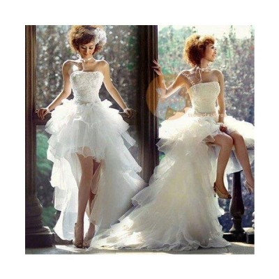 ウエディングドレス ロングドレス ブライダル 結婚式 お花嫁 白 オフショルダー パーティードレス 二次会 トレーン