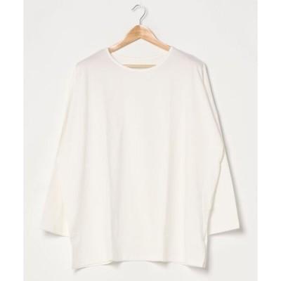 tシャツ Tシャツ コットン100%サイドスリットビッグシルエットカットソートップス