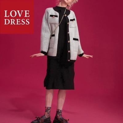 レディース アウター ジャケット 服 体型カバー 大人女子 コート チェック柄 千鳥柄 オーバーサイズ 上品 エレガント シンプル フォーマル