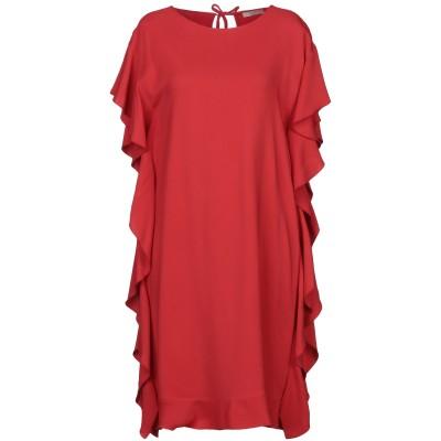 SEVENTY SERGIO TEGON ミニワンピース&ドレス レッド 42 レーヨン 97% / ポリウレタン 3% ミニワンピース&ドレス