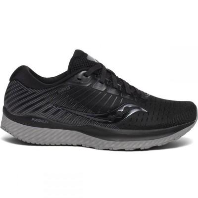 サッカニー SAUCONY レディース ランニング・ウォーキング シューズ・靴 Guide 13 Running Shoes, Wide BLACK
