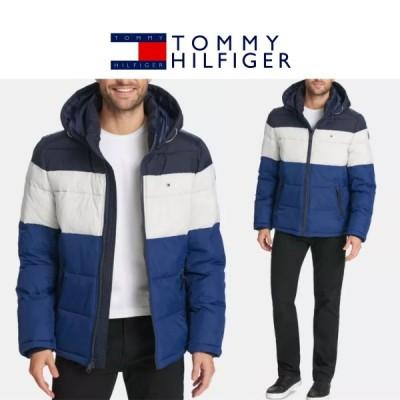 ミーヒルフィガー クレイジーパターン カラーブロック 中綿 パフジャケット US限定 Tommy Hilfiger Quilted Puffer Jacket メンズ 海外取り寄せ