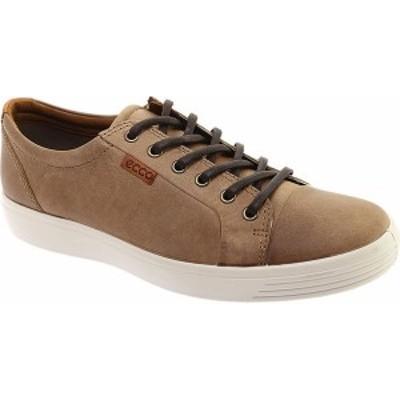 エコー メンズ スニーカー シューズ Men's ECCO Soft 7 Sneaker Navajo Brown/Gravel Suede