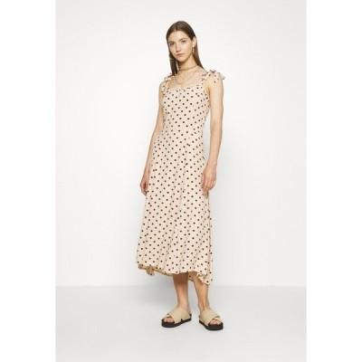 オブジェクト トール ワンピース レディース トップス OBJELLIE LONG STRAP DRESS - Day dress - sandshell