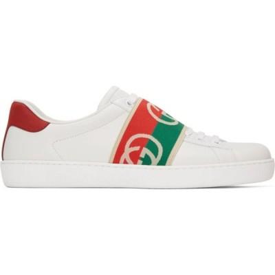 グッチ Gucci メンズ スニーカー シューズ・靴 White Elastic Ace Sneakers White