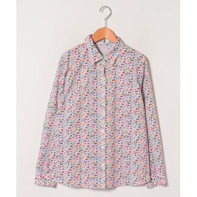Leilian PLUS HOUSE/レリアンプラスハウス ドットスポットシャツ オレンジ系4 17+