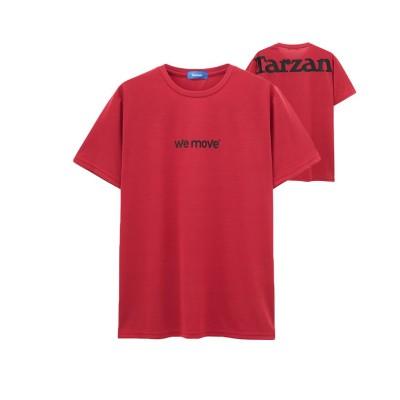 【マックハウス】 TARZAN ターザン ドライ プリントTシャツ 391141MH メンズ レッド L MAC HOUSE