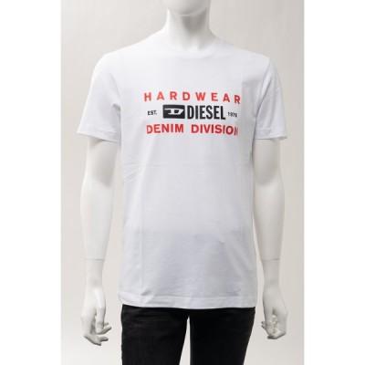ディーゼル Tシャツ 半袖 丸首 クルーネック T-DIEGOS-K32 MAGLIETTA メンズ A00354 0AAXJ ホワイト DIESEL