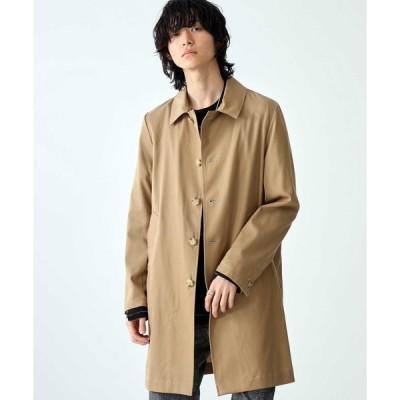 ステンカラーコート 【STUDIOUS】Tencel Balmacaan Coat