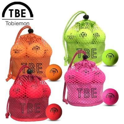 TOBIEMON 飛衛門 とびえもん ゴルフボール メッシュバッグ入り 蛍光マットカラーボール 2ピース 1ダース(12球入り) 公認球